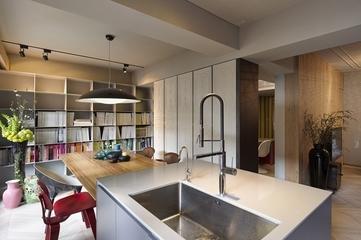 现代装饰时尚别墅效果图欣赏厨房全景