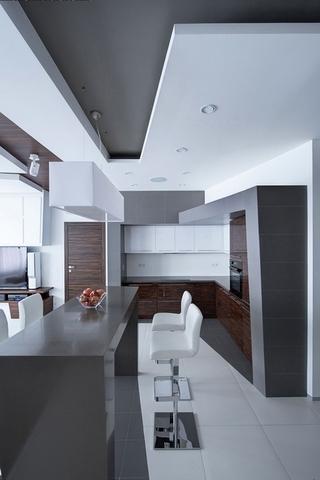 白色现代68平住宅欣赏厨房