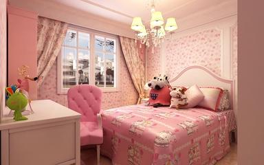 125平奢华欧式住宅欣赏儿童房