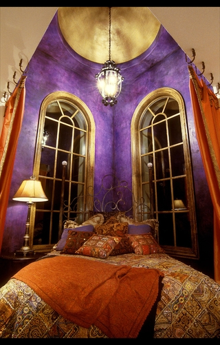 欧式古典装饰效果图卧室