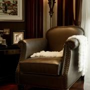 典雅客厅单人沙发装饰图