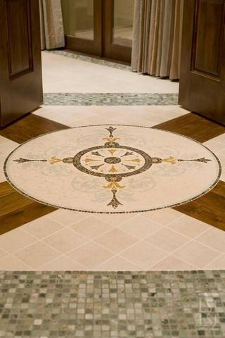 欧式奢华别墅装饰套图地板铺贴