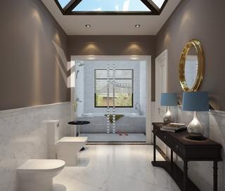 奢华新中式别墅欣赏卫生间
