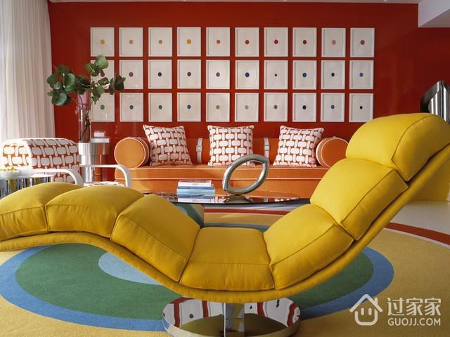 现代优雅两居室欣赏客厅背景墙设计