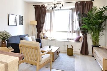 70平日式淡雅住宅欣赏客厅陈设