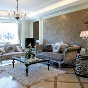 欧式风格样板间客厅