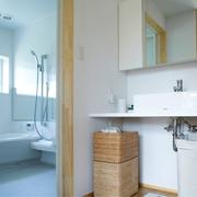 白色日式风格两居欣赏卫生间效果