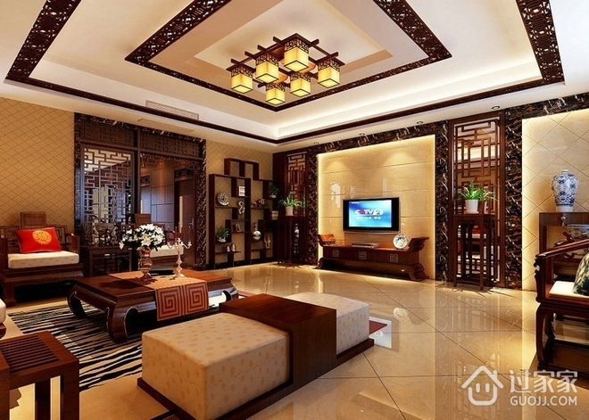 雅致新中式三居室欣赏