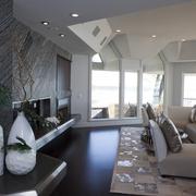 新古典住宅装饰效果图客厅电视背景墙