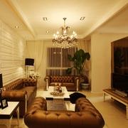 现代美式家装的清新格调客厅