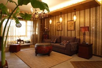 东南亚风格住宅欣赏客厅背景墙