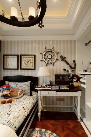 清新美式卧室照片墙效果图