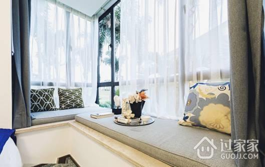 98㎡三居室现代风格装修 蓝色调营造的宁静生活