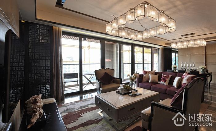 客厅推拉门装修效果图 精致现代三居室