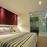 现代雅致空间卧室床头设计
