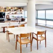 开放式的海滨公寓欣赏餐厅效果图