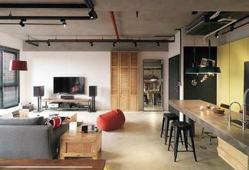 115平现代个性公寓欣赏客厅效果