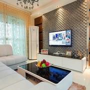 80后简约婚房设计欣赏客厅