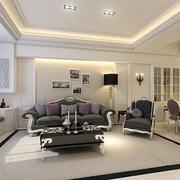 110平简欧风格效果欣赏客厅设计