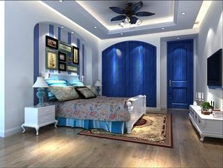 79平田园风住宅欣赏卧室背景墙