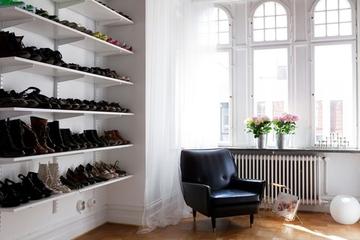 白色北欧精简住宅欣赏卧室鞋柜