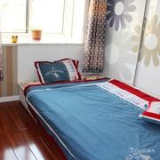 清新卧室窗帘装饰图 简欧温馨三口之家