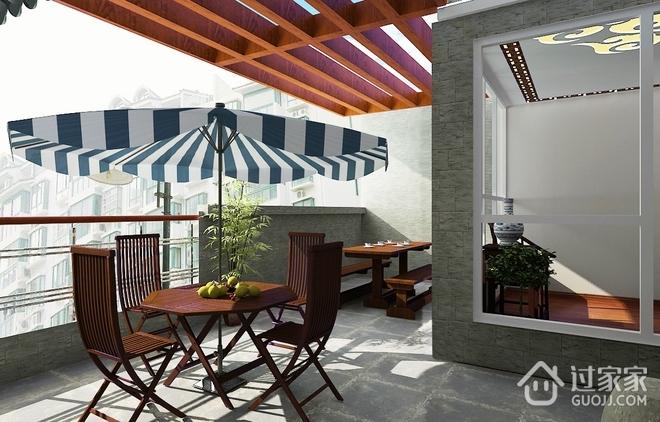 中式古典别墅住宅欣赏露台