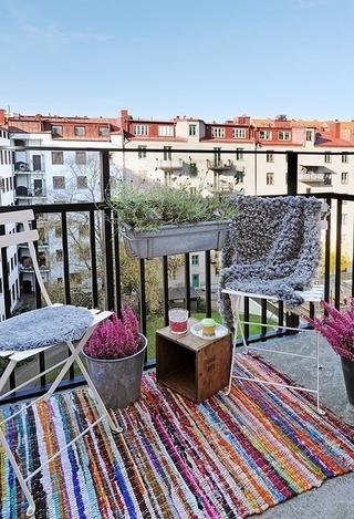 白色北欧两居室住宅欣赏阳台