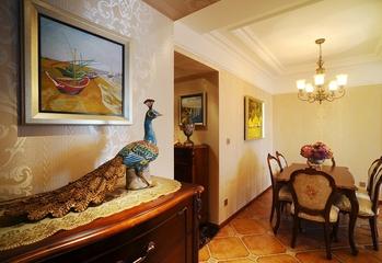 法式小公寓 浪漫餐厅灯饰效果图