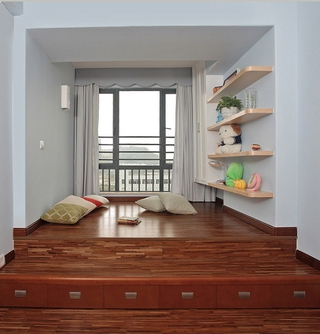 简约木质温馨住宅欣赏卧室陈设