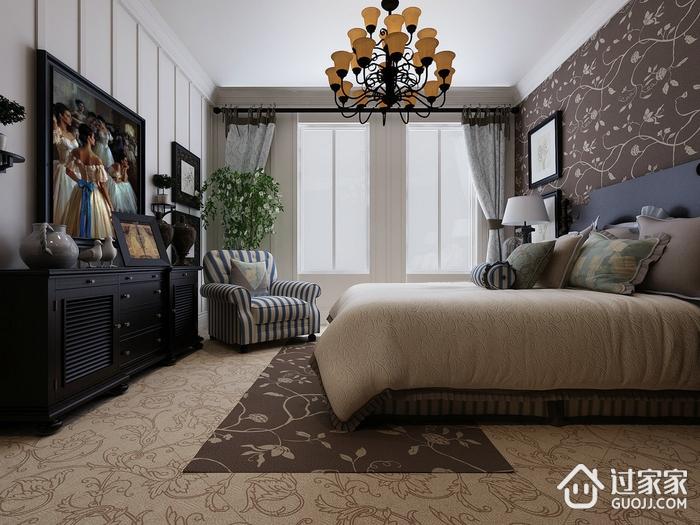 深色简约住宅欣赏卧室效果
