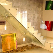 现代风玻璃楼梯