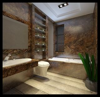 法式风格设计样板房赏析卫生间