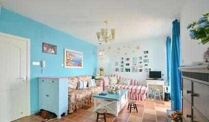 80平地中海婚房欣赏客厅效果图