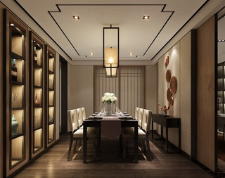 简约舒适大三居欣赏餐厅设计