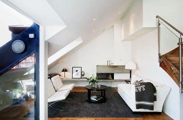 宜家风格复式装饰效果图客厅
