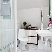 42平宜家白色一居室欣赏卫生间