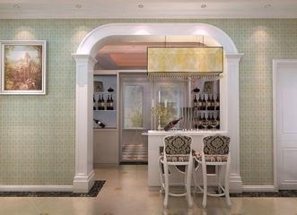 114平美式效果图案例欣赏餐厅