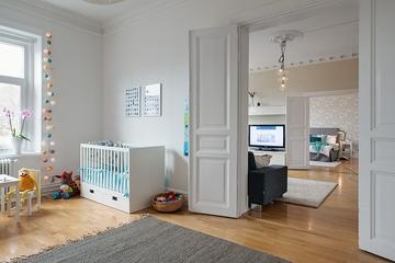 白色北欧94平住宅欣赏儿童房