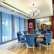 新古典样板房效果图餐厅落地灯