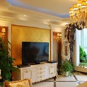 奢华欧式风情四居室欣赏客厅电视柜