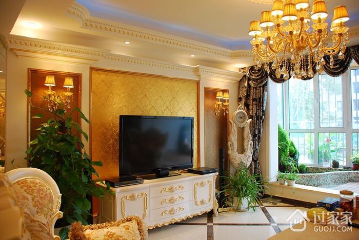奢华欧式风情四居室欣赏