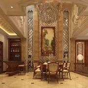 奢华欧式风格装饰效果餐桌