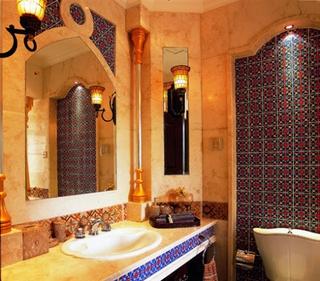 异域风情混搭别墅欣赏洗手间