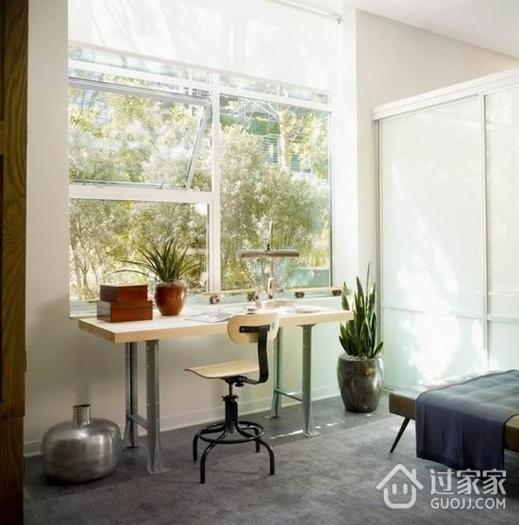 77平简约两室住宅欣赏卧室窗户