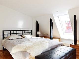 个性黑白阁楼住宅欣赏卧室吊顶