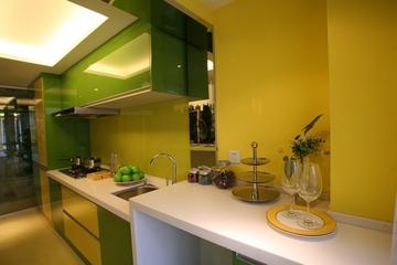 绿色环保简约小屋欣赏厨房