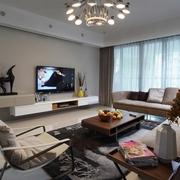 现代简约三居生活欣赏客厅