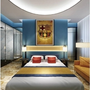 缤纷多彩的卧室背景墙设计图 让家居更有活力