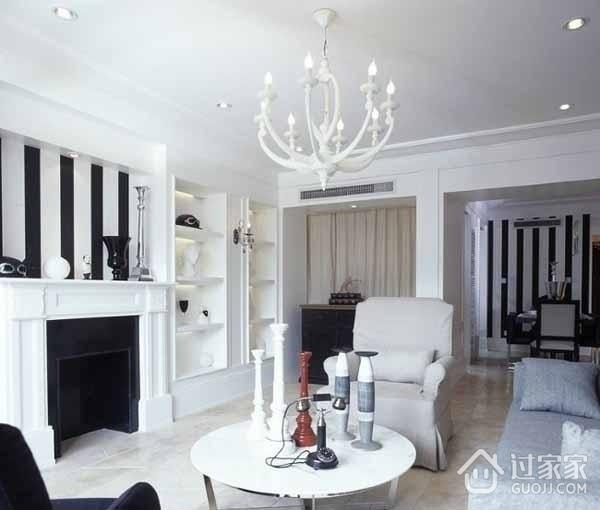 67平现代白色一居室欣赏
